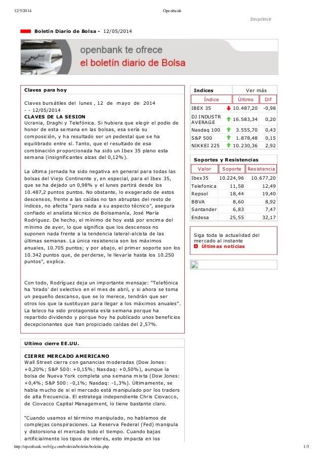 12/5/2014 Openbank http://openbank.webfg.com/boletin/boletin/boletin.php 1/3 Indices Vermás Índice Último Dif IBEX35 10....