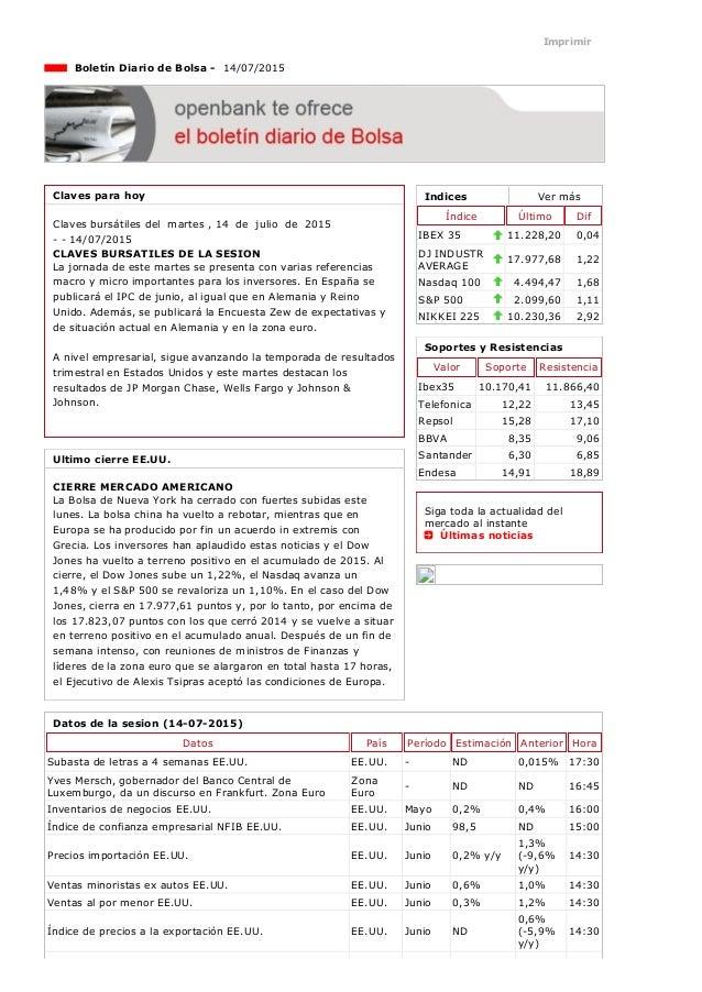 14/7/2015 Openbank http://openbank.webfg.com/boletin/boletin/boletin.php 1/3 Indices Vermás Índice Último Dif IBEX35 11....