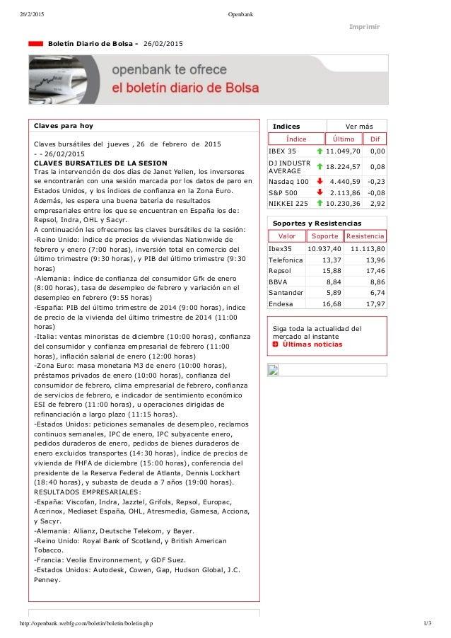 26/2/2015 Openbank http://openbank.webfg.com/boletin/boletin/boletin.php 1/3 Indices Vermás Índice Último Dif IBEX35 11....