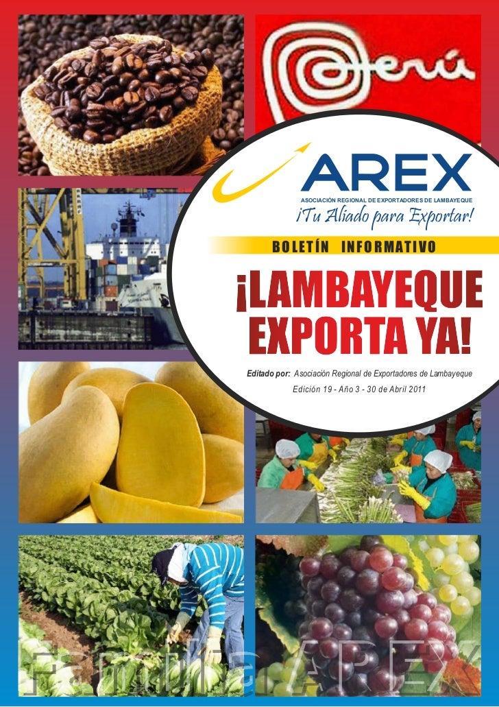 "Boletín virtual ""LAMBAYEQUE EXPORTA YA"" Edic. 19 - ABRIL 2011"