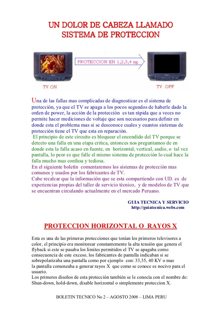 UN DOLOR DE CABEZA LLAMADO           SISTEMA DE PROTECCIONUna de las fallas mas complicadas de diagnosticar es el sistema ...