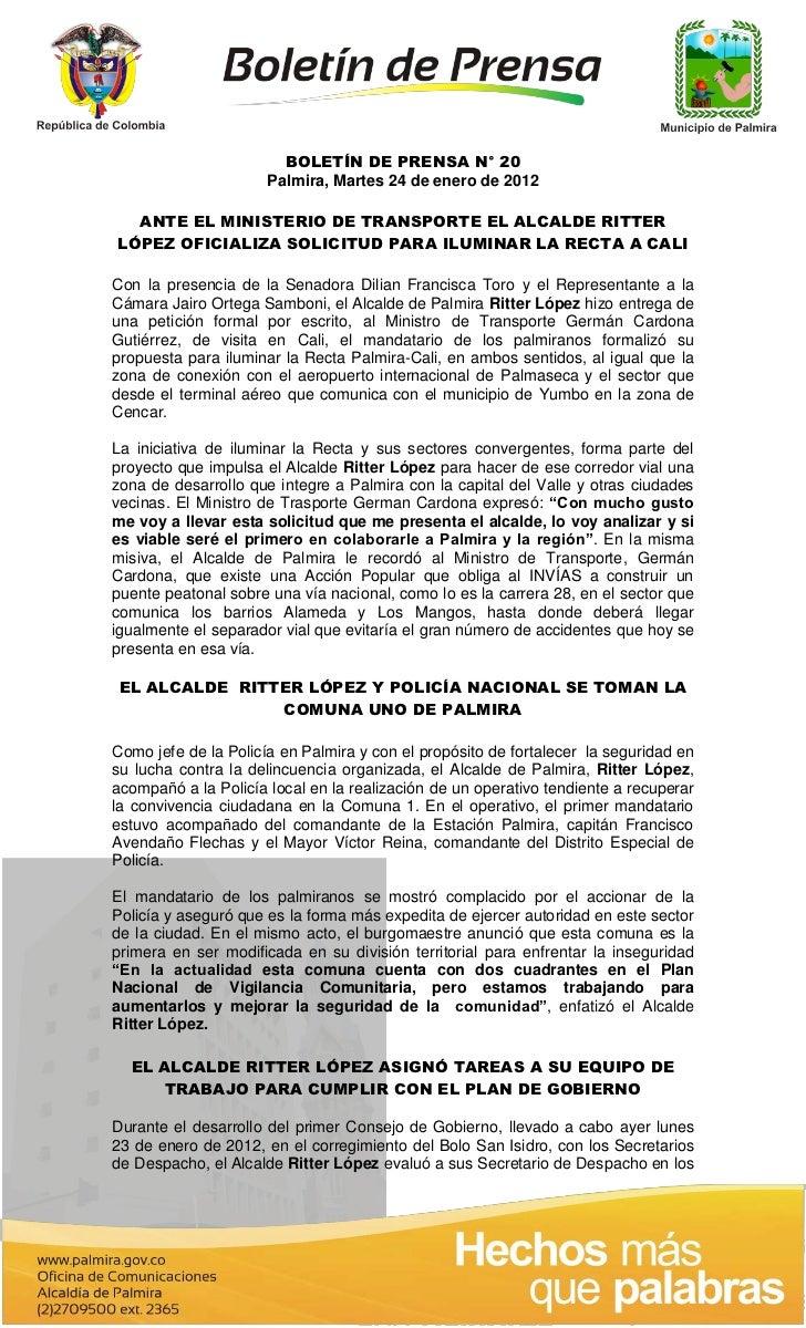 Boletín 20 del 24 enero