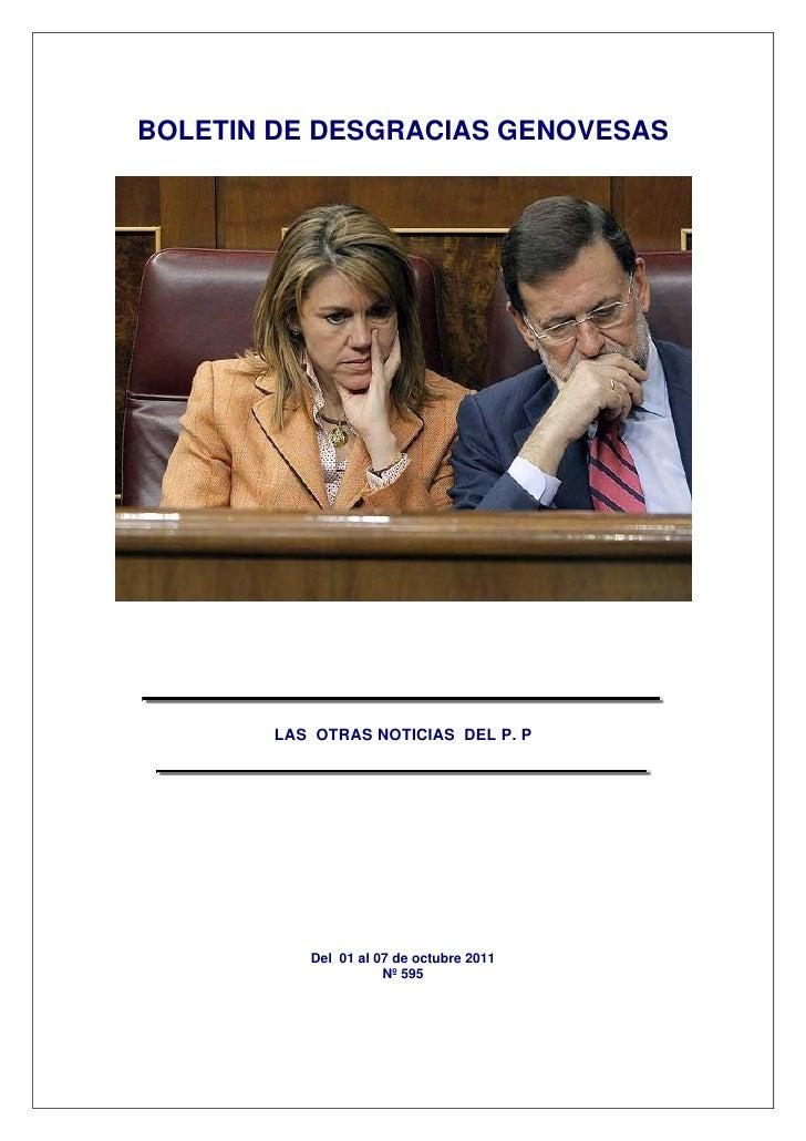 BOLETIN DE DESGRACIAS GENOVESAS       LAS OTRAS NOTICIAS DEL P. P          Del 01 al 07 de octubre 2011                   ...