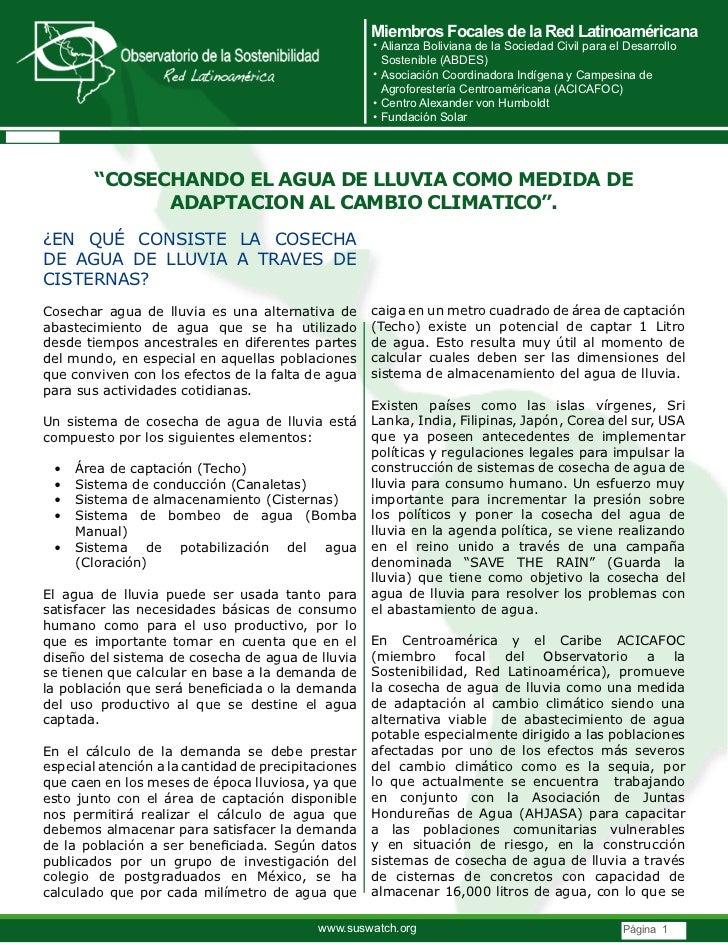 Miembros Focales de la Red Latinoaméricana                                                     • Alianza Boliviana de la S...