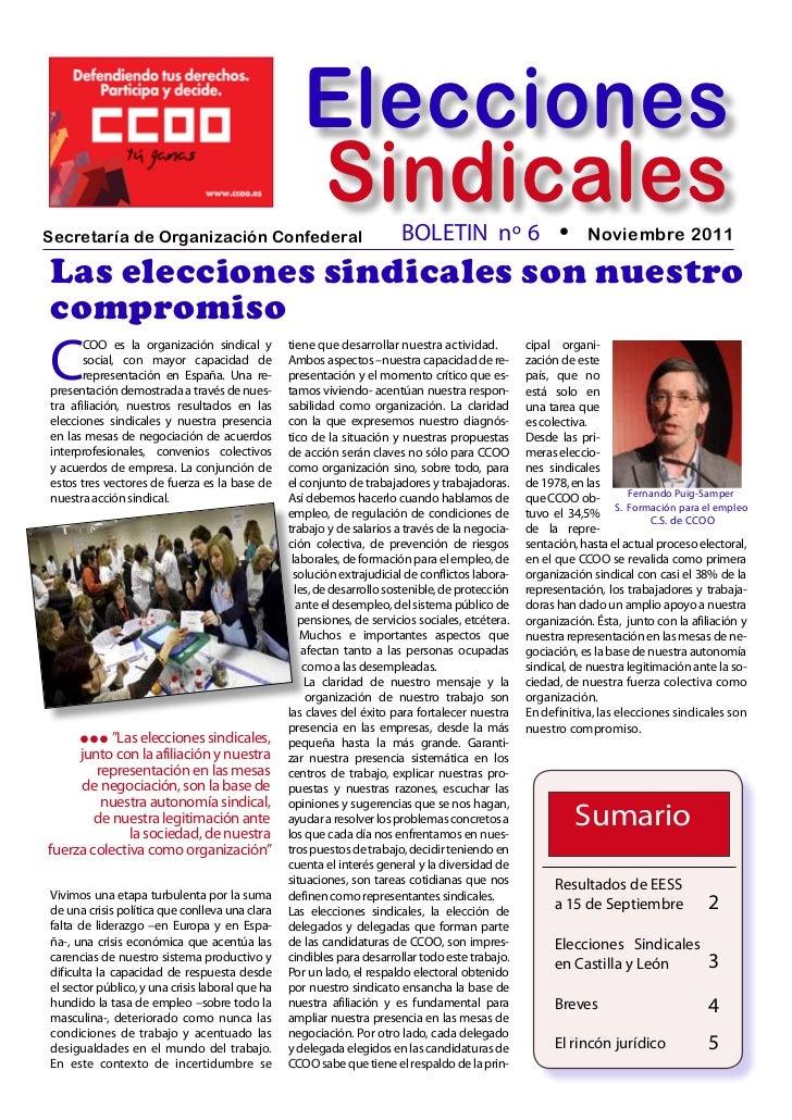 EleccionesSecretaría de Organización Confederal                                                    Sindicales             ...
