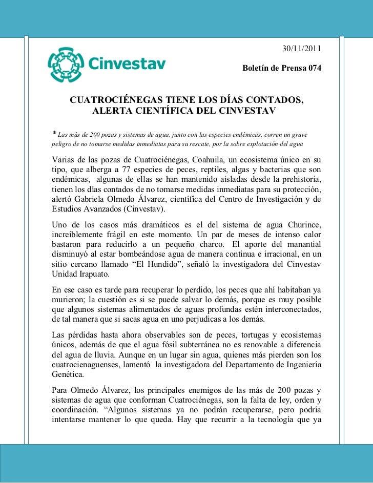 Boletin74 cuatrocienegas
