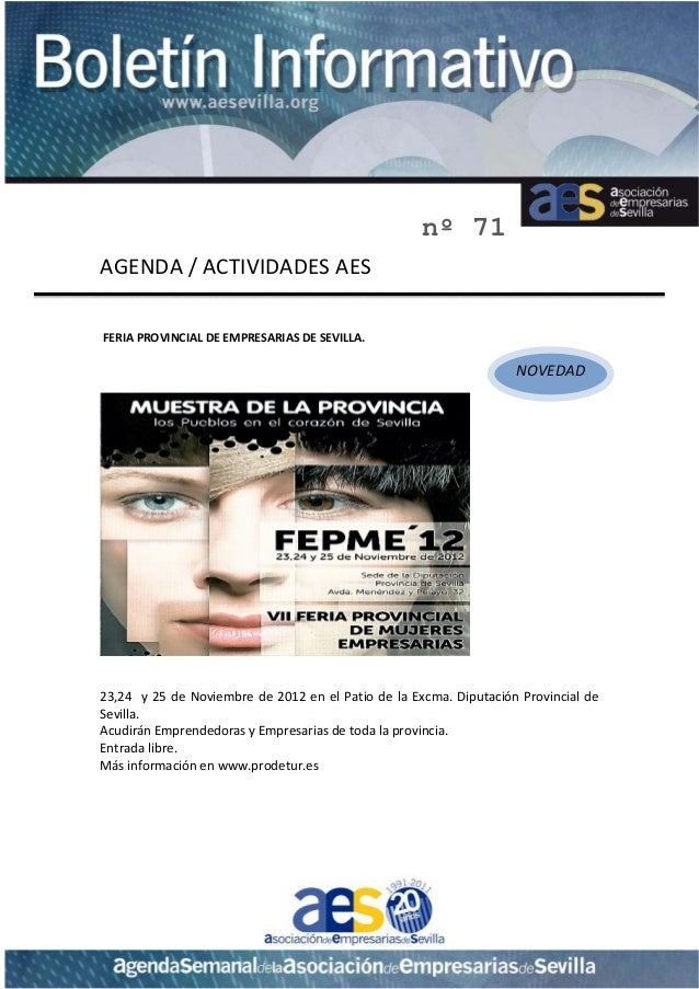 nº 71AGENDA/ACTIVIDADESAESFERIAPROVINCIALDEEMPRESARIAS...