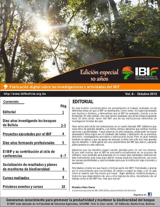 Boletín IBIF 8