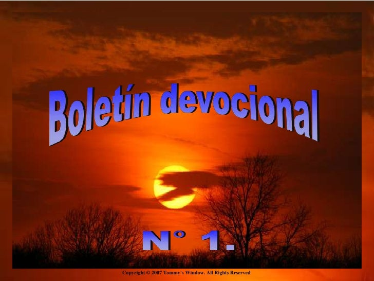 Boletin Devocional 1
