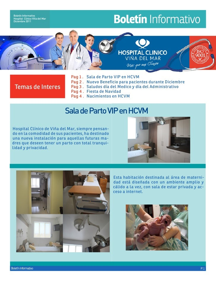 Boletín InformativoHospital Clínico Viña del MarDiciembre 2011                                 Pag 1 . Sala de Parto VIP ...