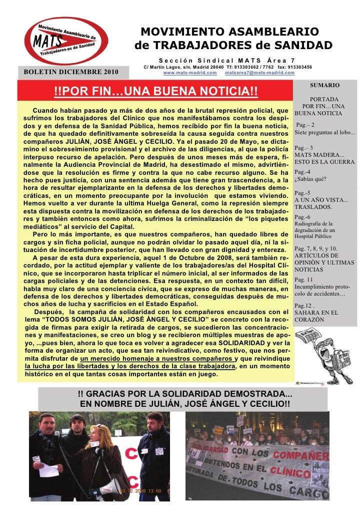 Boletín Área 7 diciembre 2010