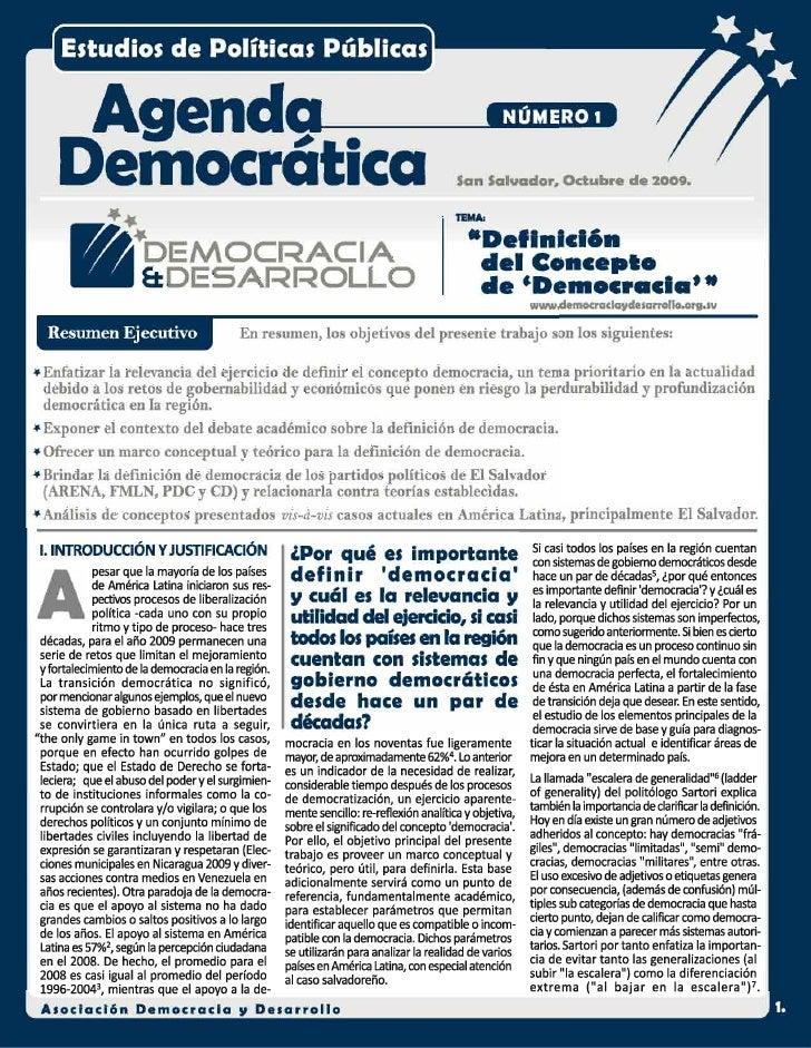"""Definicion del concepto de """"Democracia"""""""