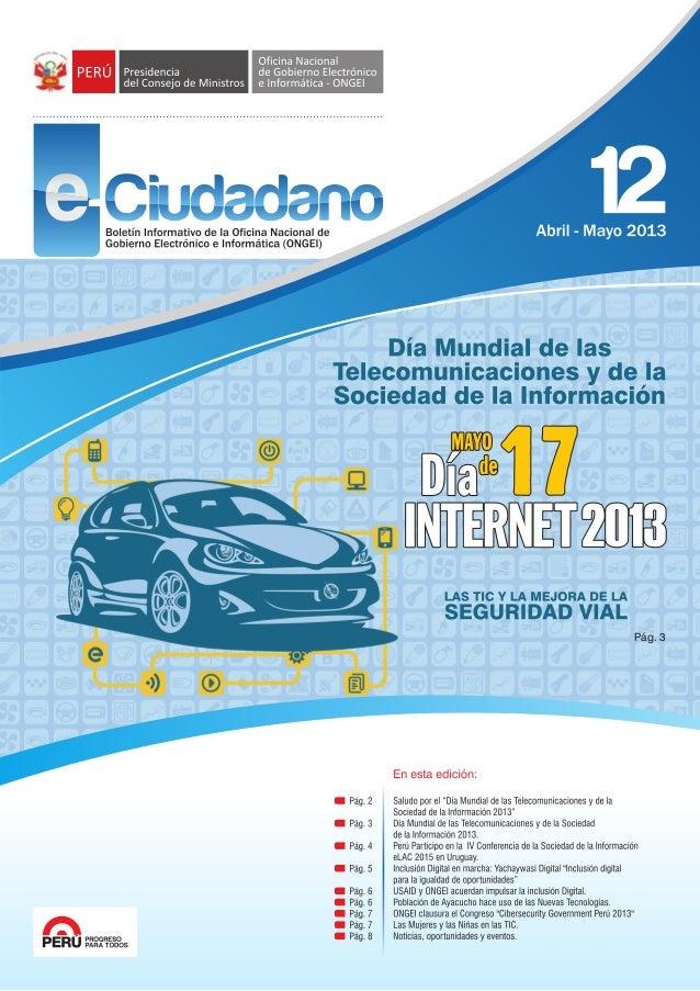 Boletín e-ciudadano 12 (abril-mayo)