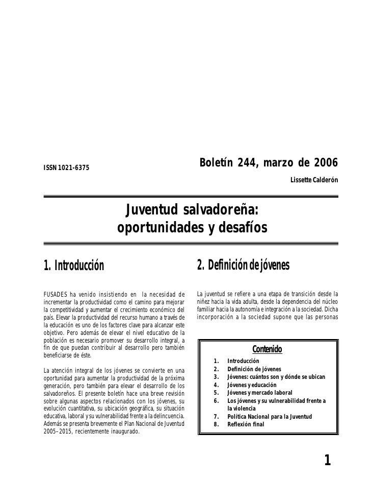 Boletin economico y_social_no_244_juventud_salvadorena__oportunidades_y_desafios