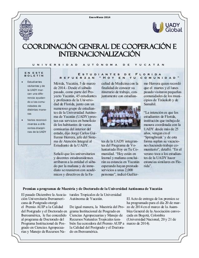 Boletin CGCI Enero-Marzo 2014