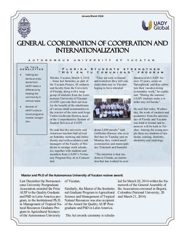 GCCI January-March 2014 Newsletter