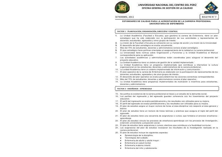 UNIVERSIDAD NACIONAL DEL CENTRO DEL PERÚ                              OFICINA GENERAL DE GESTIÓN DE LA CALIDADSETIEMBRE, 2...