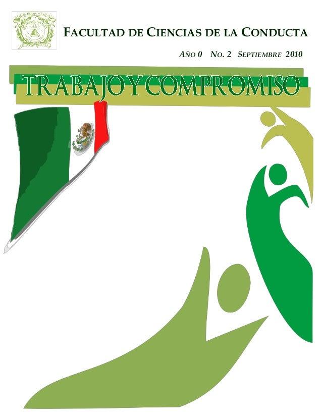 FACULTAD DE CIENCIAS DE LA CONDUCTA AÑO 0 NO. 2 SEPTIEMBRE 2010