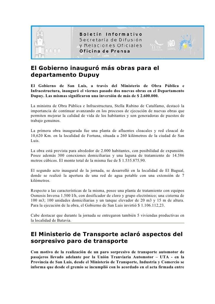 Boletin informativo 05 05-10