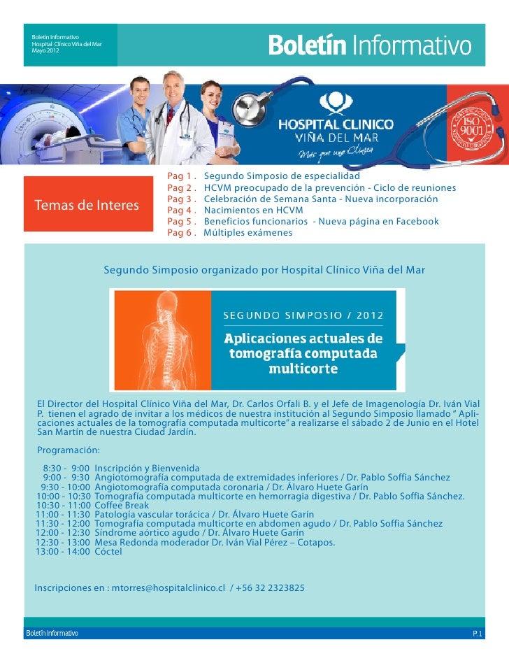 Boletín InformativoHospital Clínico Viña del MarMayo 2012                                            Pag 1 . Segundo Simp...