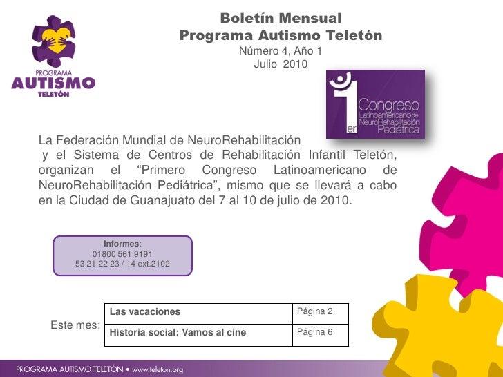 Boletín Mensual                                   Programa Autismo Teletón                                            Núme...