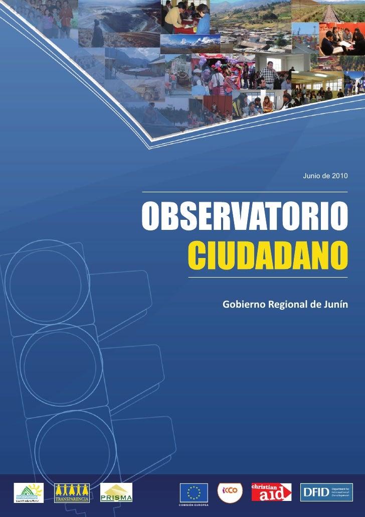 Observatorio Ciudadano - Junín