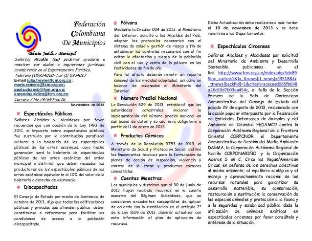 Boletin juridico noviembre  8 de 2013