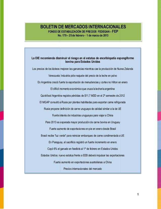 Boletin mercadosinternacionales179
