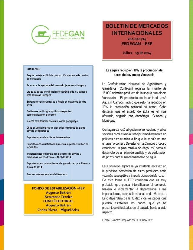 Boletin mercados internacionales 2014 011