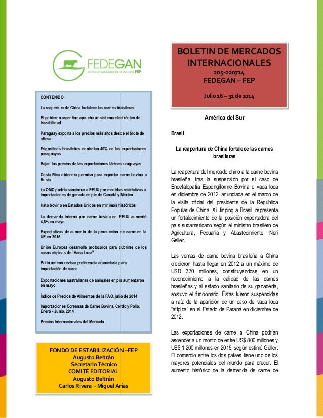 Boletin mercados internacionales 2014 012