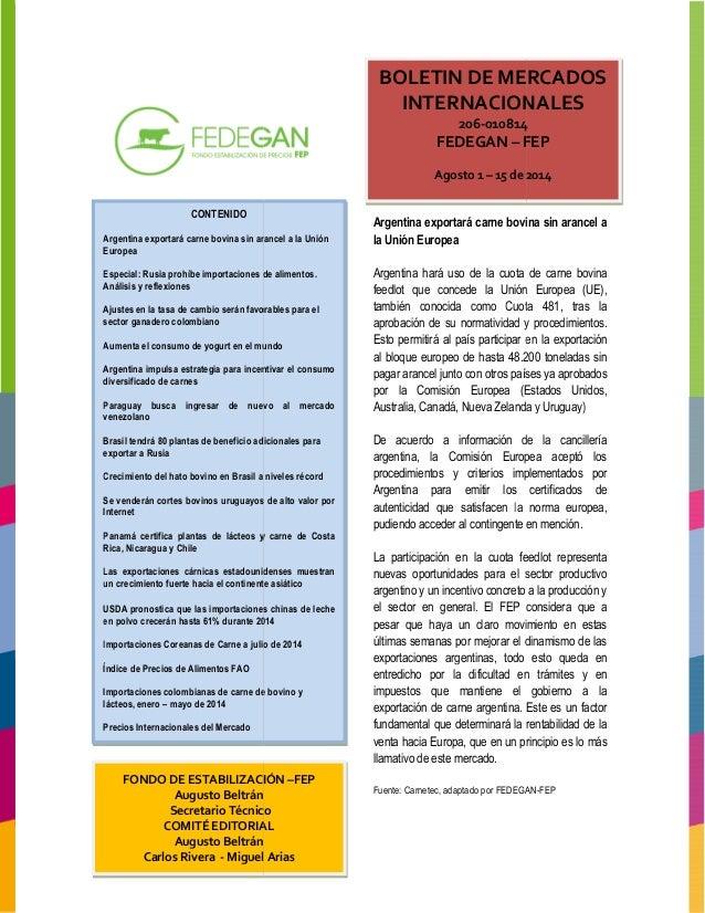 Boletin mercados internacionales 2014 013