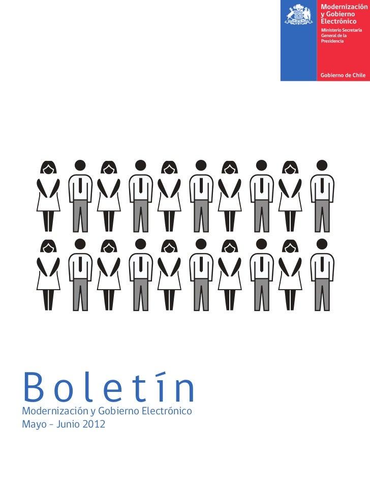 Boletín Modernización y Gobierno Electrónico- mayo-junio 2012