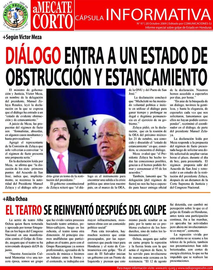 CÁPSULA                    INFORMATIVA               N° 97 | 20 Octubre 2009 | Editado por COMUNICACIONES-SJ              ...