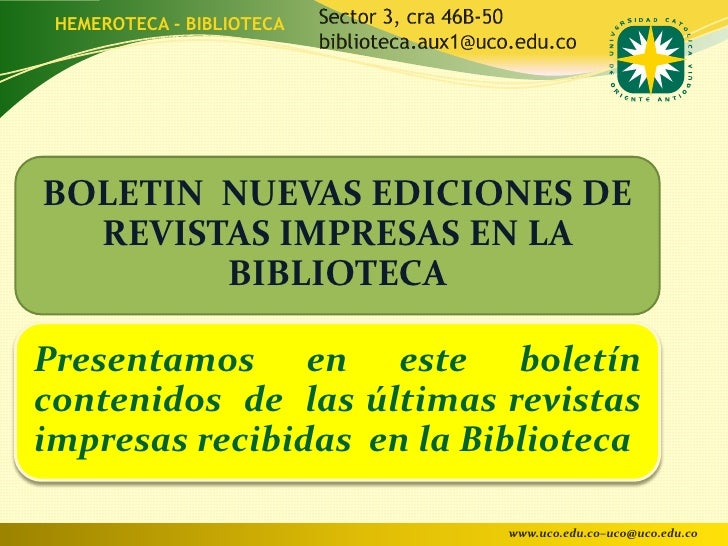 Boletin nuevas publicaciones julio 2012