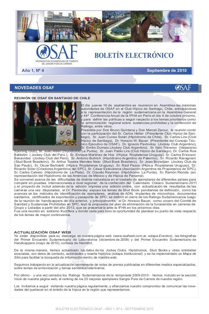 BOLETÍN ELECTRÓNICO     Año 1, Nº 4                                                                       Septiembre de 20...