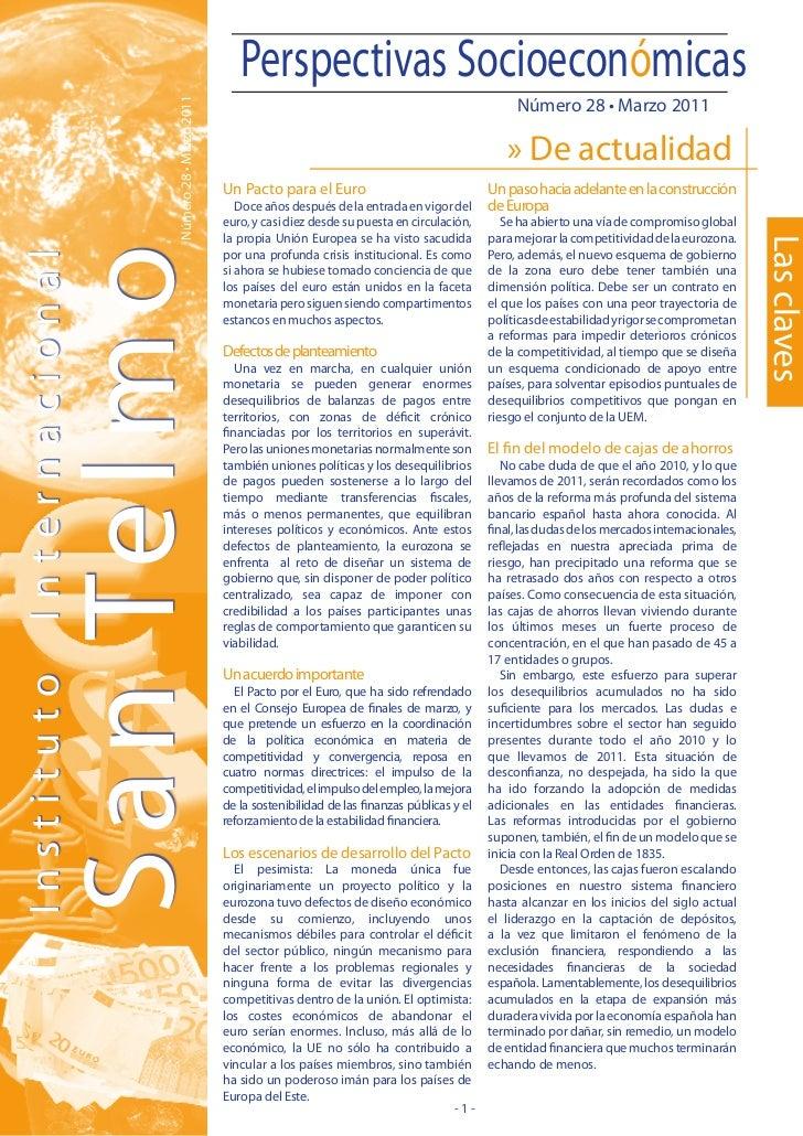 Boletin Perspectivas Socioeconómicas San Telmo Marzo 2011
