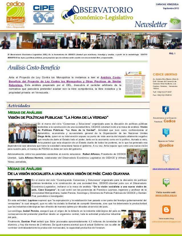Newsletter Septiembre 2012