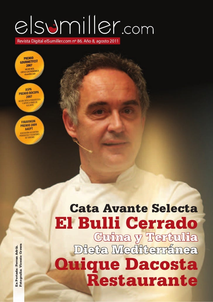 Revista Digital elSumiller.com nº 86. Año 8, agosto 2011                                    Cata Avante Selecta           ...
