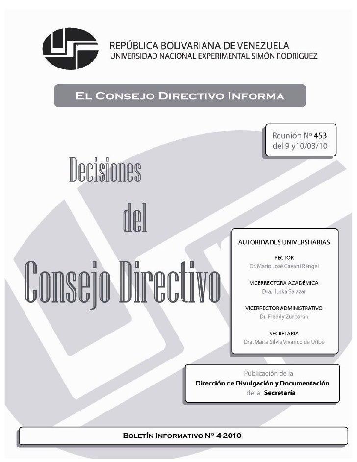 Boletin unesr consejo directivo 453
