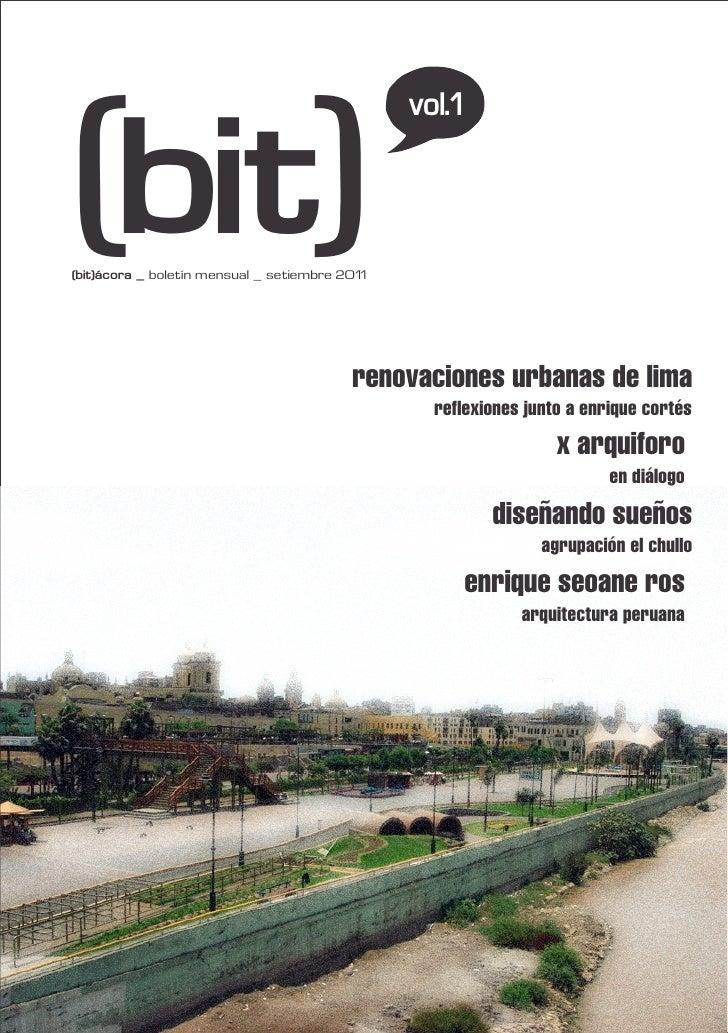 (bit)                                                vol.1(bit)ácora _ boletín mensual _ setiembre 2011                   ...
