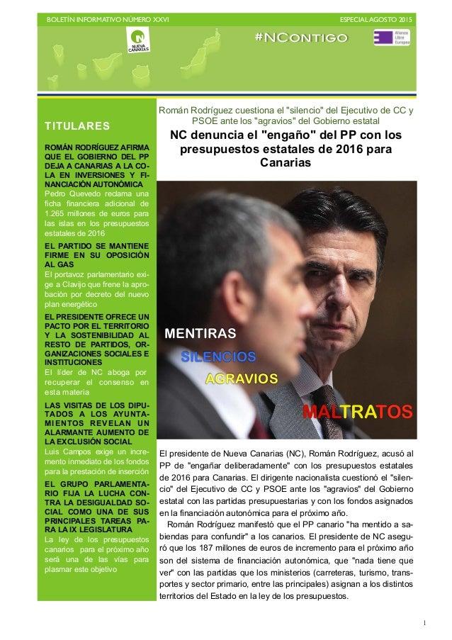 BOLETÍN INFORMATIVO NÚMERO XXVI   ESPECIAL AGOSTO 2015   1 MENTIRAS SILENCIOS AGRAVIOS MALTRATOS Román Rodríguez cuestio...