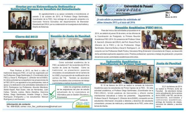 Boletín1 - CRUV-FIEC- 2014