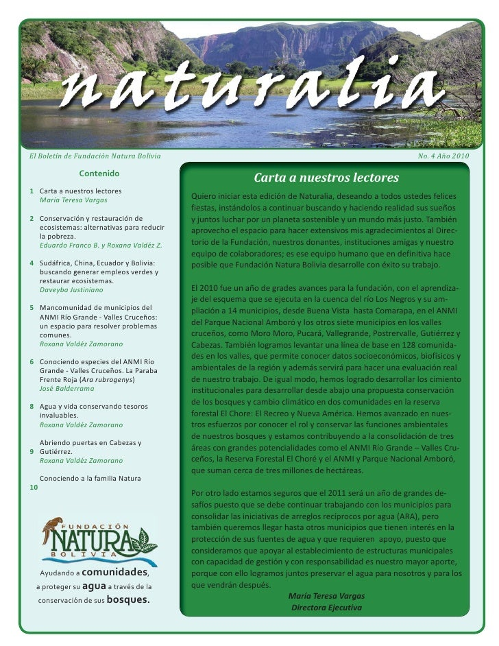 Boletín Naturalia 4 - 2010