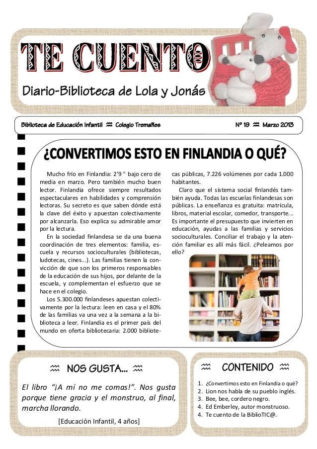 Boletín biblioteca 19-marzu 2013