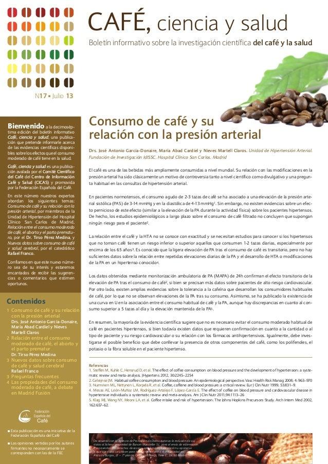 Boletín cafe ciencia y salud nº 17