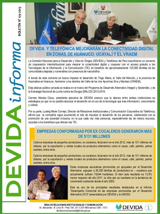 ÁREA DE RELACIONES INSTITUCIONALES Y COMUNICACIÓN Av. Benavides – B Lima 18 – Perú Telf.: (51-1) 207-4800 anexos 1260 – 13...