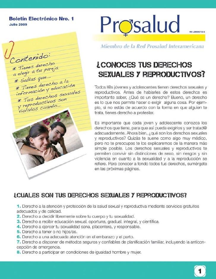 """Boletín Electrónico """"Conoce tus derechos Sexuales y Reproductivos"""""""