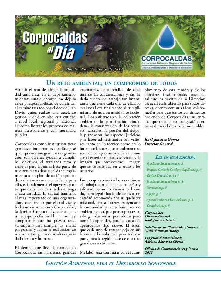 ISSN 2027-3193                    Un reto ambiental, un compromiso de todosAsumir el reto de dirigir la autori-      enseñ...