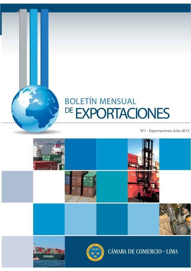 CCL - Boletín Exportaciones 07.13
