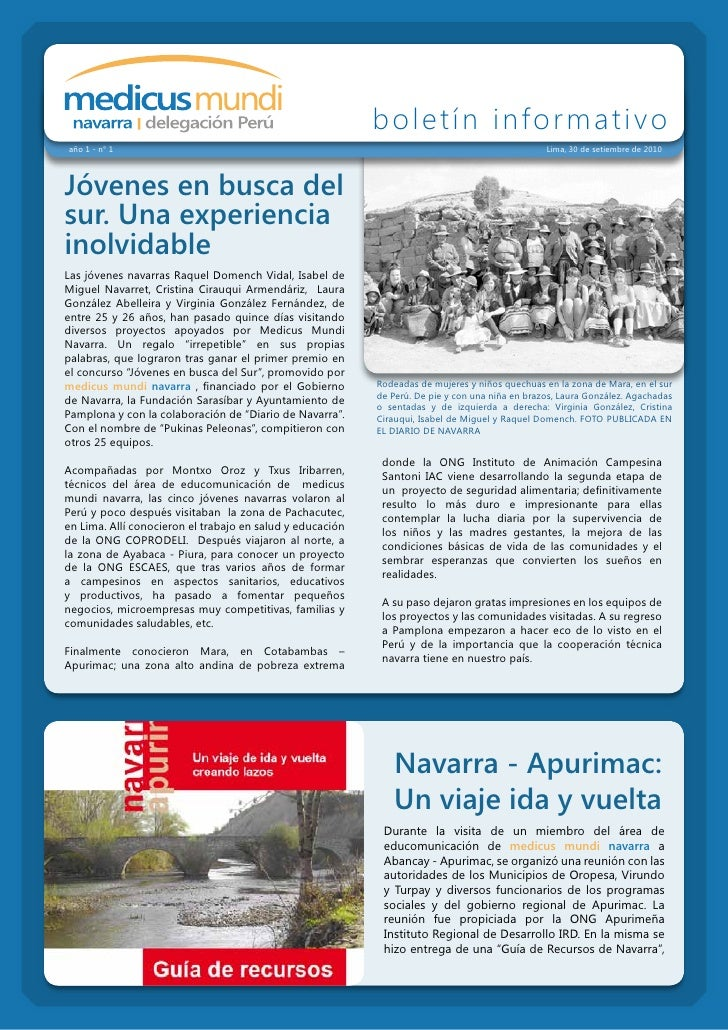 boletín informativo año 1 - n° 1                                                                                     Lima,...